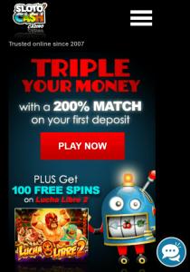 Sloto Cash mobile casino