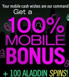 Uptown Aces mobile casino bonus